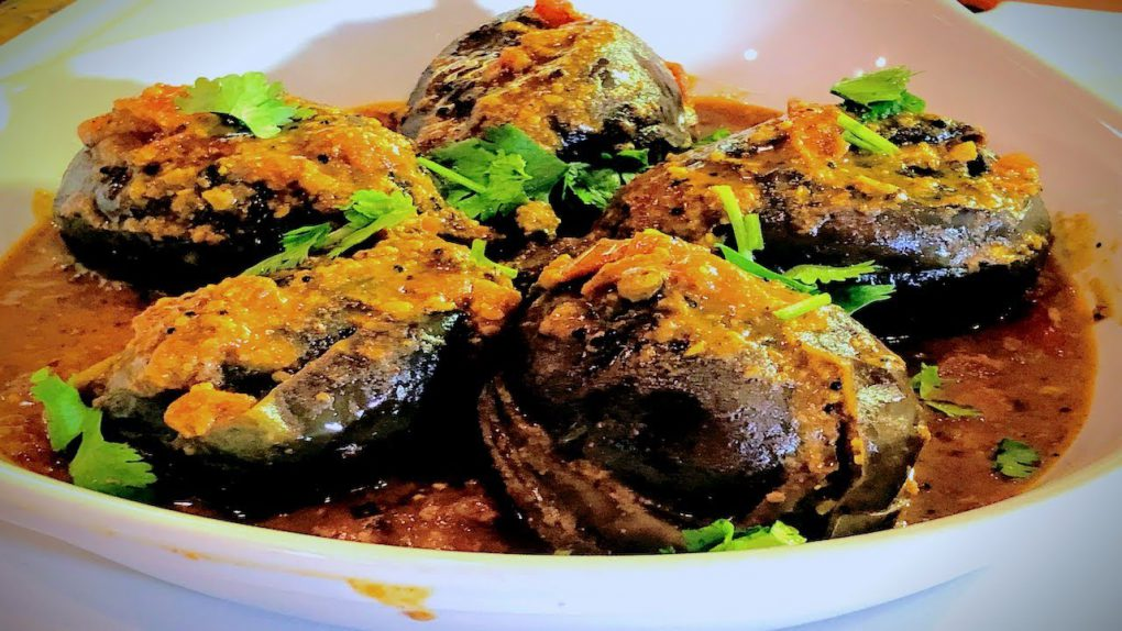 Stuffed Baby Eggplant | Indian Vegetarian Recipes | Show Me The Curry