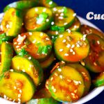 How to Make Spicy Cucumber Salad, unique spicy cucumber salad recipe, side dish, korean salad recipe