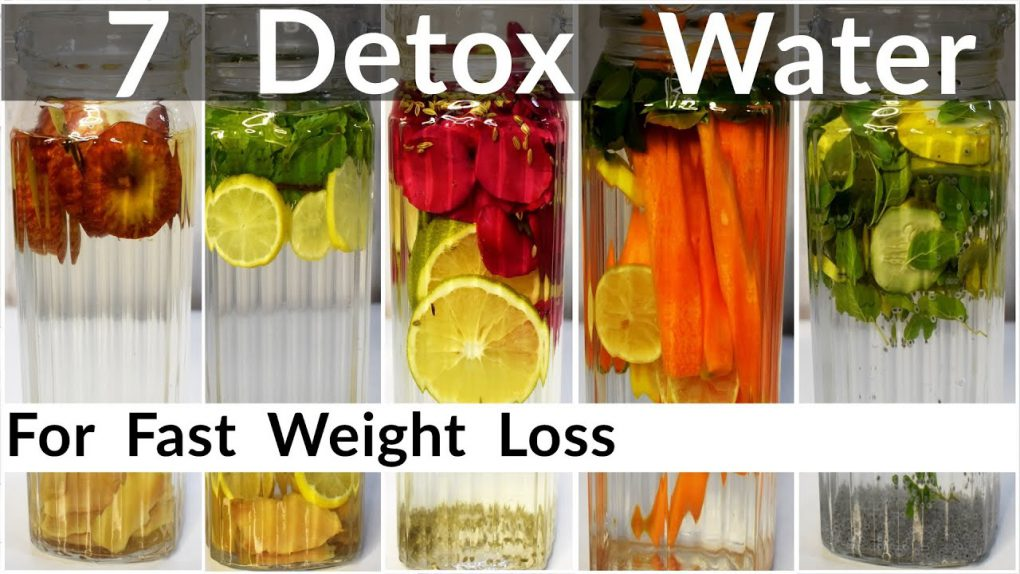 7 Detox Water Recipes For Fast Weight Loss In Hindi   Infused Water To Lose Belly Fat   Flat Belly