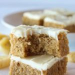 Banana Blondies Recipe Cream Cheese Frosting | Practically Homemade