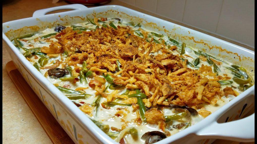 Green Bean Casserole Recipe (Mushroom Cream Sauce Recipe) | How to make GREEN BEAN CASSEROLE