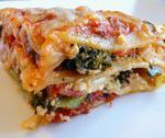 Vegetable Lasagna- OMG good!!!! Inlaws loved it!  added julienned fresh basil to…