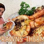 Prawns Thermidor Recipe | CREAMY, CHEESY and YUMMY Prawns Thermidor.
