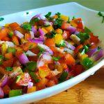 Bell Pepper Salsa Recipe | Easy Bell Pepper Salad Recipe
