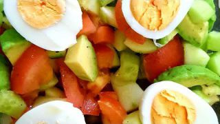 Quick and Healthy Avocado Salad  Recipe |  egg  avocado cucumber salad