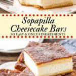 These sopapilla cheesecake bars have a thick layer of creamy cheesecake between …