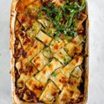 Vegetable Lasagna with Zucchini Lattice (vegetarian) — could also be good with…
