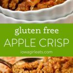 Gluten Free Apple Crisp has just the right ratio of cinnamon-spiced apples to sw…