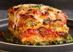 You won't miss the meat in this amazing lasagna, which gets its flavor and tex…