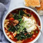 Vegetarian Lasagna Soup #recipe…