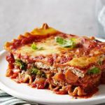 Roasted vegetables add tons of hearty flavor to this easy vegetarian lasagna mad…