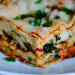 Roasted Vegetable Lasagna with homemade marinara and ricotta….