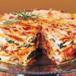 Mile-High Meatless Lasagna Pie…