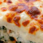 Vegetable Alfredo Lasagna ~ Healthy vegetables are tucked under layers of melted…