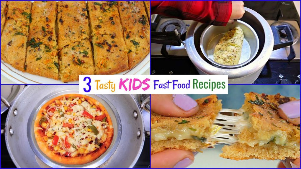 3 FAST FOOD Recipes for Kids | CookWithNisha