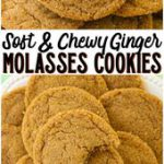 Soft & Chewy Ginger Molasses Cookies are perfect for the holidays! Lovely combin…