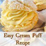 Easy Cream Puff Recipe