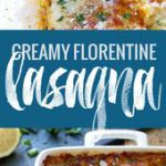 Creamy Tomato Lasagna Florentine – simple vegetarian comfort food at its best. 3…