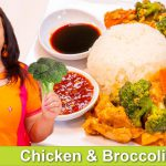 Stir Fry Chicken & Broccoli with Sticky Rice Recipe in Urdu Hindi – RKK