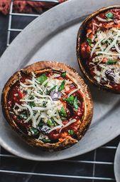 Cheese–Spinach-Stuffed Portobellos Recipe