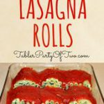 "These Skinny Lasagna Rolls are really easy to make and are a ""no-guilt&quot…"