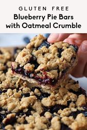 Blueberry Pie Bars with Oatmeal Crumble   Ambitious Kitchen
