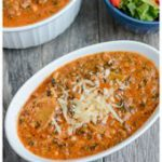 This Instant Pot Vegetarian Lasagna Soup is a quick and easy comfort food dinner…