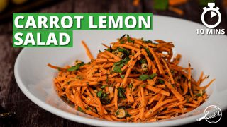 Carrot Lemon Salad Recipe | Healthy Carrot Salad | Salad Recipes | Cookd