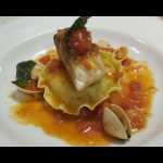 Panfry seabass with seafood ravioli/recipe/ingredients/how to cook
