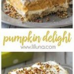 Cool and creamy Pumpkin Delight is easily one of the BEST pumpkin desserts! With…