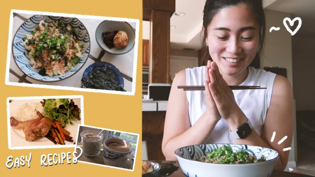 What I eat in a day (with easy and healthy recipes for young professionals!)