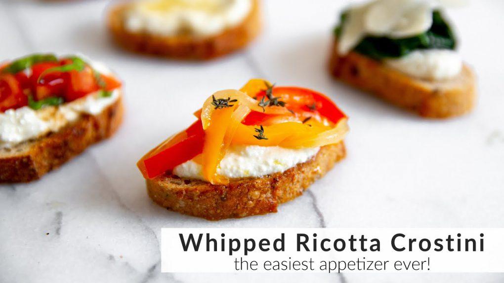 Whipped Ricotta Crostini Recipe (the BEST appetizer!)