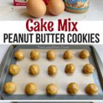 Super Soft Peanut Butter Cookies (Quick & Easy With Cake Mix!)