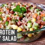 High Protein Soya Granule Salad | Healthy Easy Creamy Soy Summer Salad Recipe for Lunch Weight Loss