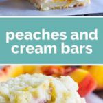 For a different take on a peach pie, try these Peaches and Cream Bars that have …