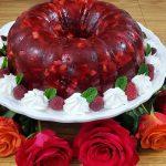 قالب الجيلي مع الاناناس والجوز Best Raspberry Cranberry Jello Salad Recipe