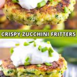 Crispy Baked Zucchini Fritters Recipe