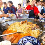 Street Food in Uzbekistan – 1,500 KG. of RICE PLOV (Pilau) + Market Tour in Tashkent!