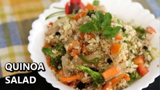 Healthy Quinoa Salad Recipe for Weight Loss | Indian Quinoa Salad Recipe | Easy Salads for Dinner
