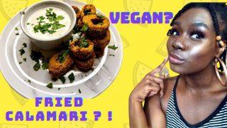 The CRISPIEST Fried VEGAN Calamari!   Easy Vegan Recipes