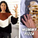 Vegan Mummy Pizza Halloween Recipe (kid friendly)