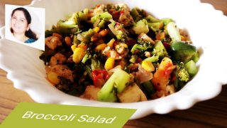 Broccoli Salad recipe in Malayalam / Broccoli Salad Indian Style Recipe / Broccoli Salad Tutorial