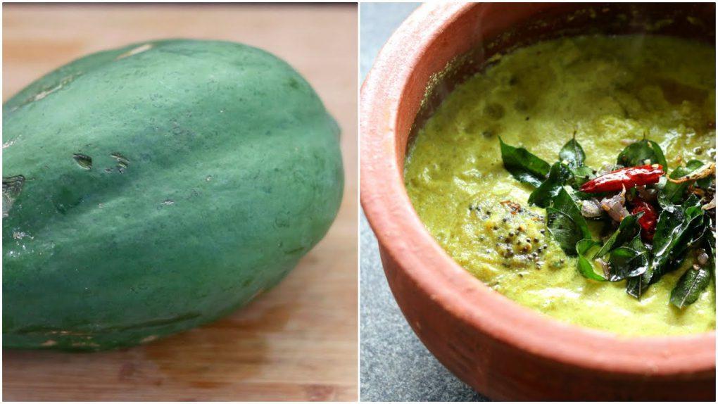 Raw Pappaya Curry – Green Pappaya Curry Recipe | Healthy Recipes | Skinny Recipes