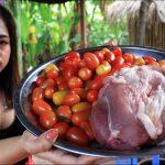 BBQ Pork with papaya salad recipe
