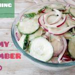 Refreshing CREAMY CUCUMBER SALAD | Salad recipe | Side Dish Recipe| Easy Recipe | Len Inspires Ep48