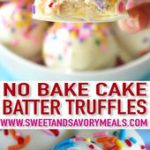 No Bake Cake Batter Truffles are very easy to make using funfetti cake mix. Load…