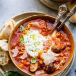 One Pot Lasagna Soup (Vegetarian) | Dishing Out Health…