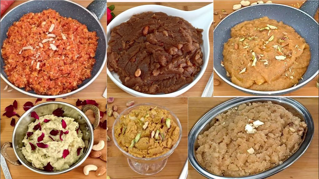 6 हलवा रेसिपी | 6 halwa recipes | Indian Dessert Recipes | Halwa Recipes | Indian Halwa Varieties