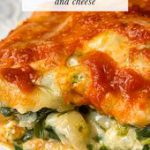 Keto vegetarian lasagna with spinach and cheese