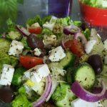 Easy Greek Salad Recipe – healthy and delicious Greek Salad – How to make GREEK SALAD Recipe